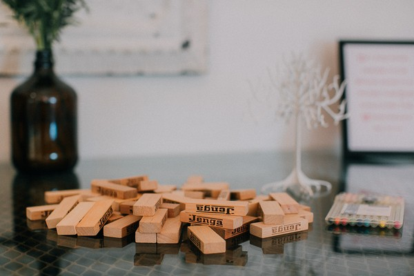 Jenga pieces