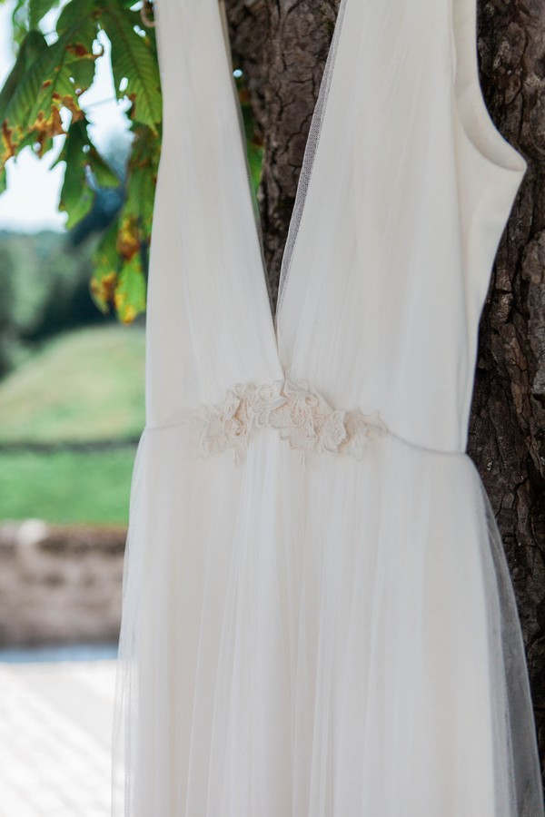 Detail on Kate Halfpenny wedding dress