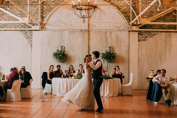 Bride and groom first dance at Simondium Country Lodge wedding