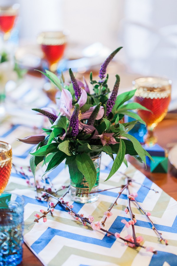 Veronica longifolia purple wedding table flowers