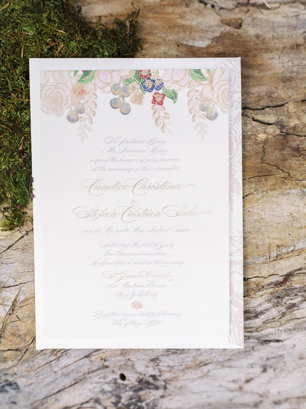 Midsummer Night's Dream wedding stationery