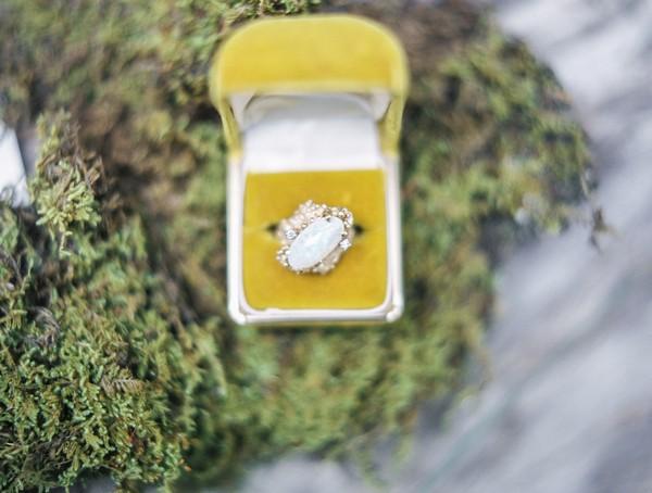 Large jewel wedding ring