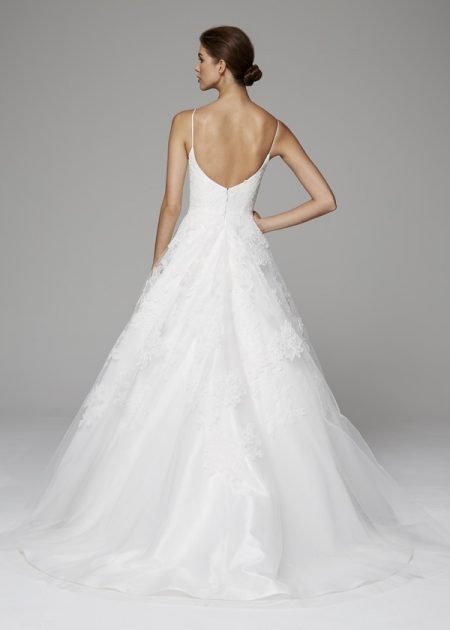 Back of Arabella Wedding Dress from the Anne Barge Fall 2018 Bridal Collection