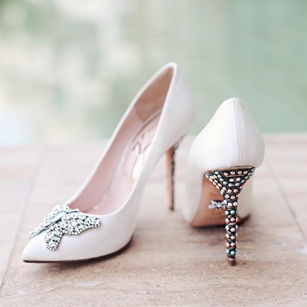 New Farfalla Candy Cane Pointy Toe Aruna Seth Bridal Shoes