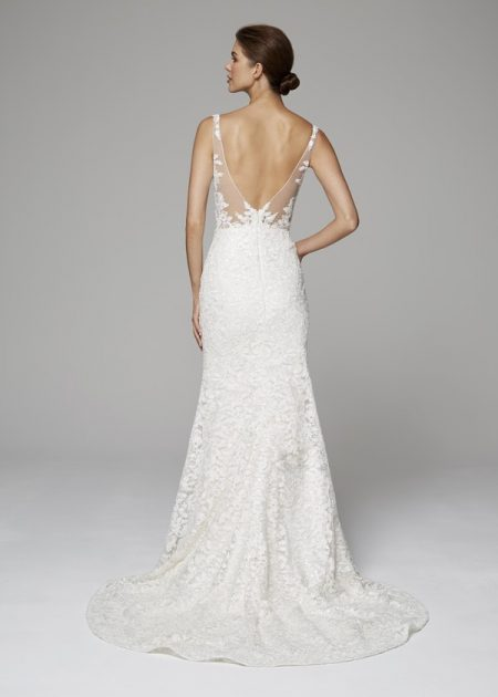 Back of Aubrey Wedding Dress from the Anne Barge Fall 2018 Bridal Collection