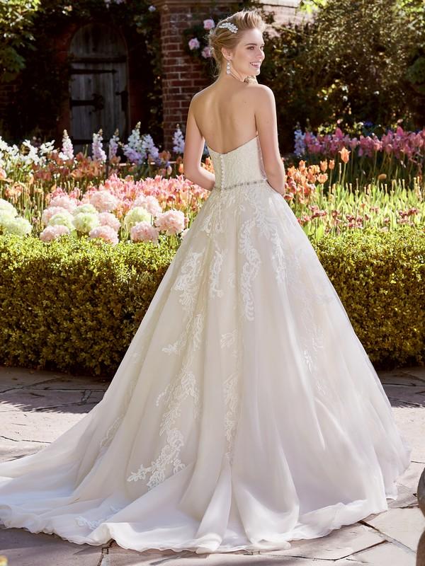 Back of Bernice Wedding Dress from the Rebecca Ingram Juniper 2018 Bridal Collection