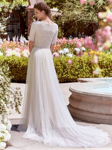 Back of Cathy Anne Wedding Dress from the Rebecca Ingram Juniper 2018 Bridal Collection