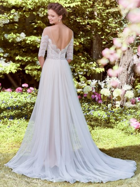 Back of Cathy Wedding Dress from the Rebecca Ingram Juniper 2018 Bridal Collection
