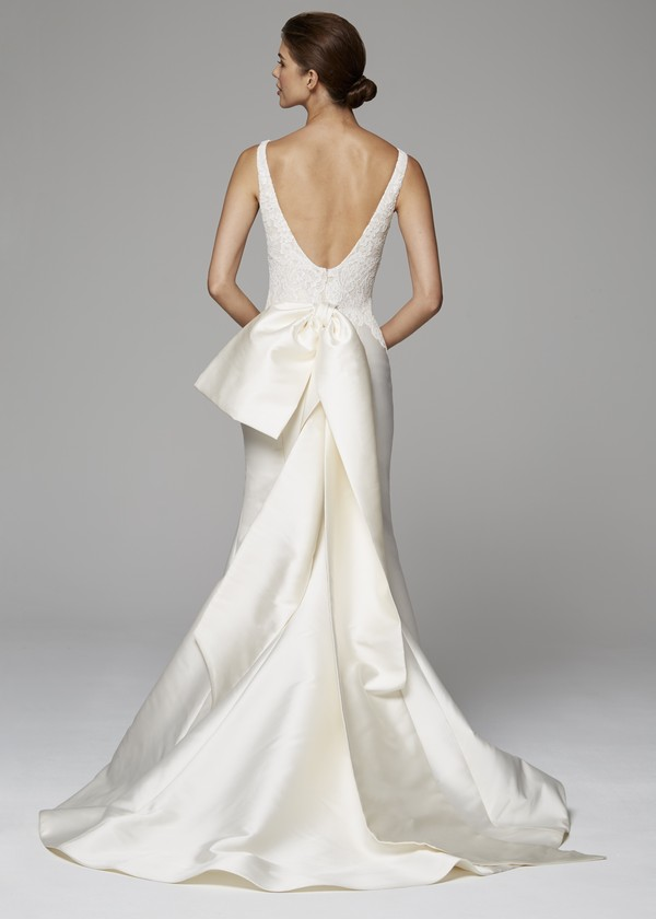 Back of Celine Wedding Dress from the Anne Barge Fall 2018 Bridal Collection