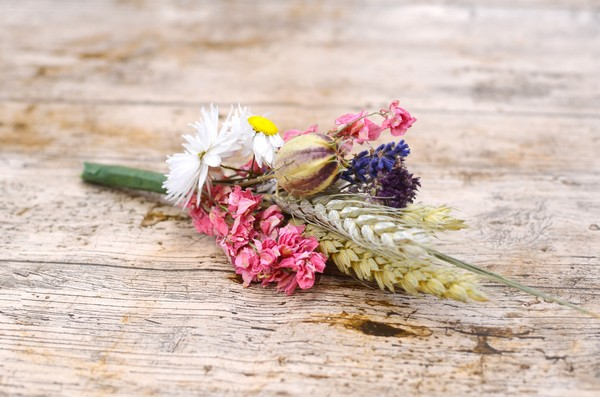Country Garden Wheat Buttonhole