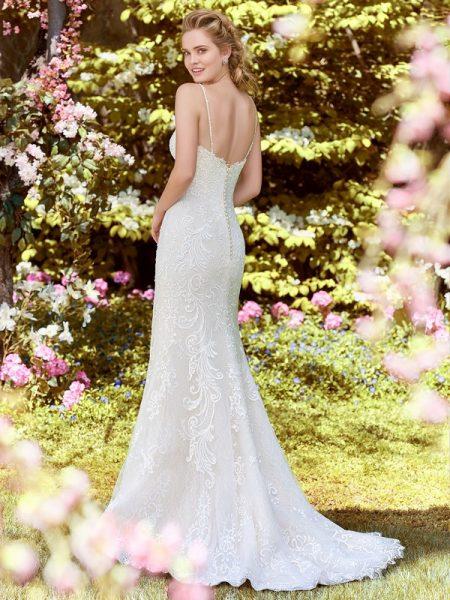Back of Debbie Wedding Dress from the Rebecca Ingram Juniper 2018 Bridal Collection