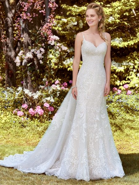 Debbie Wedding Dress with Tulle Train from the Rebecca Ingram Juniper 2018 Bridal Collection