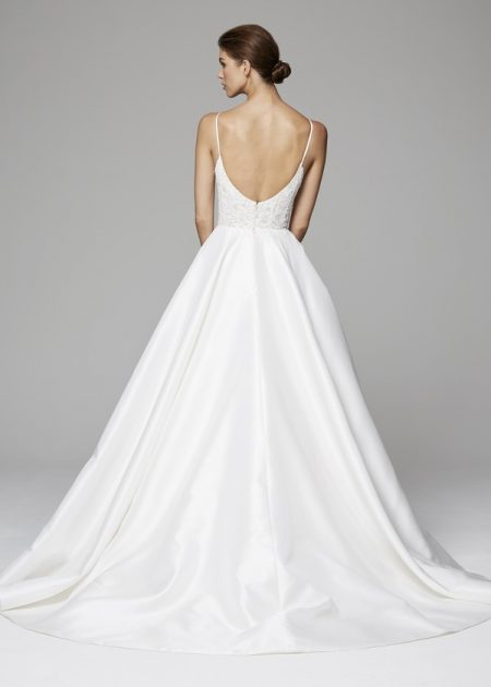 Back of Demi Wedding Dress from the Anne Barge Fall 2018 Bridal Collection