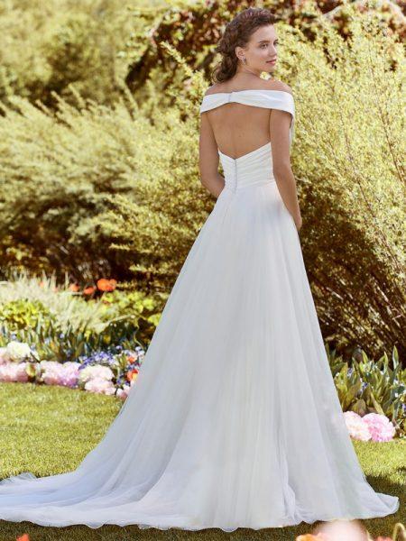 Back of Edna Wedding Dress from the Rebecca Ingram Juniper 2018 Bridal Collection