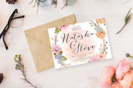 Girly Meadow Wedding Invitation