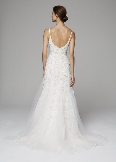 Back of Gwendolyn Wedding Dress from the Anne Barge Fall 2018 Bridal Collection