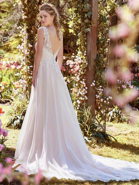 Back of Joyce Wedding Dress from the Rebecca Ingram Juniper 2018 Bridal Collection