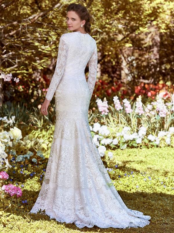 Back of Karla Anne Wedding Dress from the Rebecca Ingram Juniper 2018 Bridal Collection