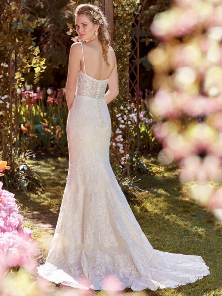 Back of Karla Wedding Dress from the Rebecca Ingram Juniper 2018 Bridal Collection