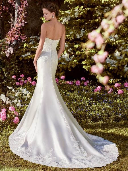 Back of Laynie Wedding Dress from the Rebecca Ingram Juniper 2018 Bridal Collection