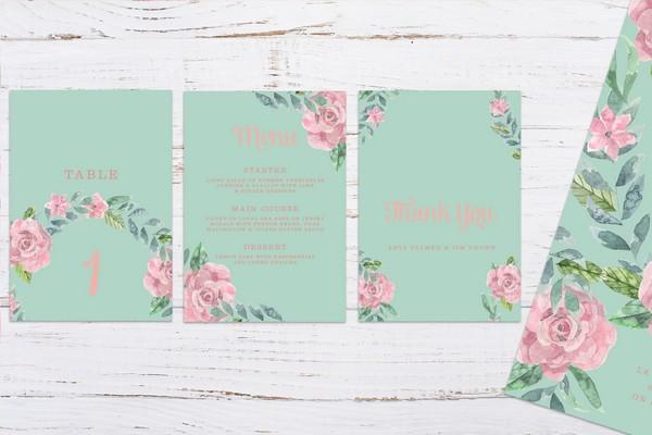 Light Blue Neutral 2018 Wedding Stationery Suite