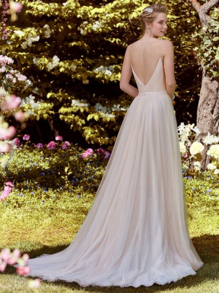 Back of Maxine Wedding Dress from the Rebecca Ingram Juniper 2018 Bridal Collection