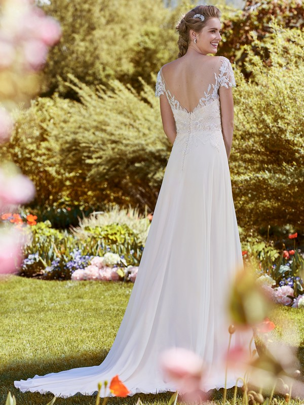 Back of Mercy Wedding Dress from the Rebecca Ingram Juniper 2018 Bridal Collection