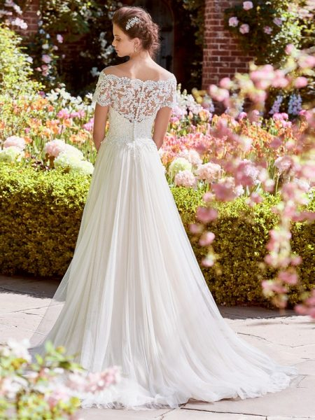 Back of Michelle Wedding Dress from the Rebecca Ingram Juniper 2018 Bridal Collection