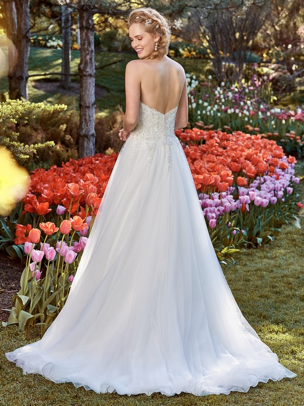 Back of Muriel Wedding Dress from the Rebecca Ingram Juniper 2018 Bridal Collection