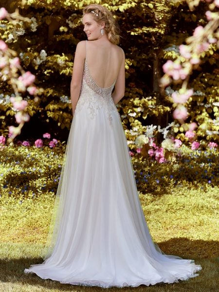 Back of Nellie Wedding Dress from the Rebecca Ingram Juniper 2018 Bridal Collection