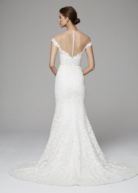 Back of Nicolette Wedding Dress from the Anne Barge Fall 2018 Bridal Collection