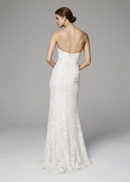 Back of Philippa Wedding Dress from the Anne Barge Fall 2018 Bridal Collection