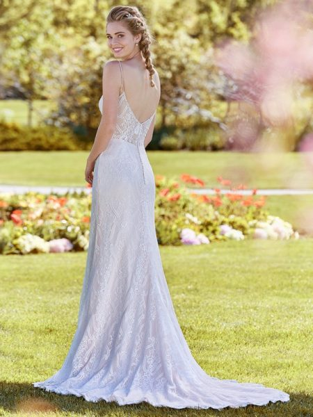 Back of Polly Wedding Dress from the Rebecca Ingram Juniper 2018 Bridal Collection