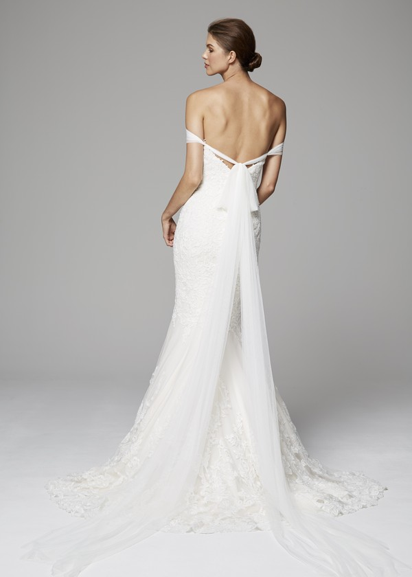 Back of Raven Wedding Dress from the Anne Barge Fall 2018 Bridal Collection