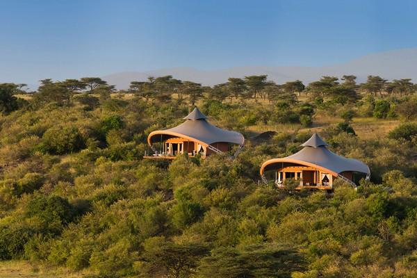 Tents at Mahali Mzuri, Kenya