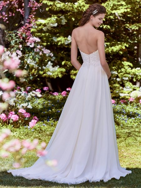 Back of Wendy Wedding Dress from the Rebecca Ingram Juniper 2018 Bridal Collection