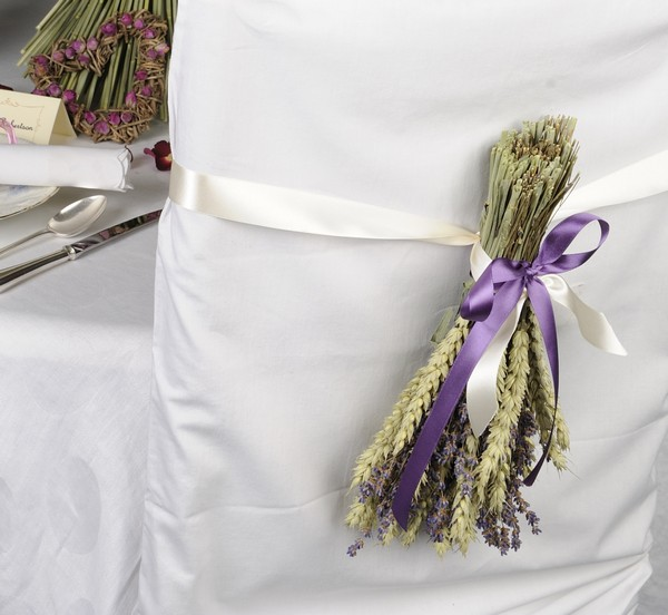 Wheat and Lavender Posies