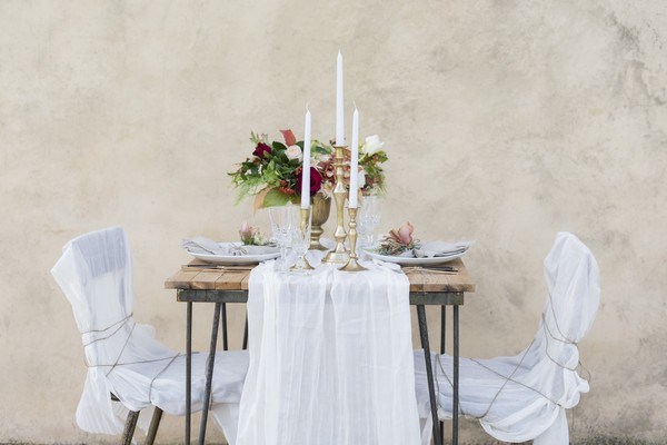 Small, elegant wedding table