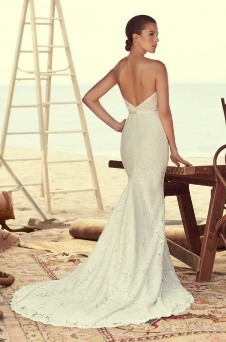 Back of 2182 Wedding Dress from the Mikaella Spring 2018