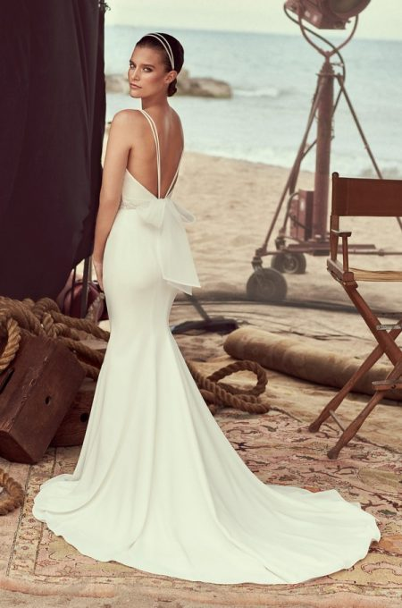 Back of 2183 Wedding Dress from the Mikaella Spring 2018