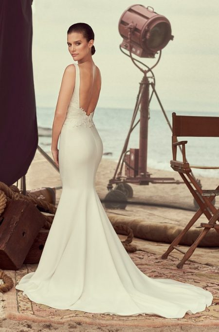 Back of 2184 Wedding Dress from the Mikaella Spring 2018