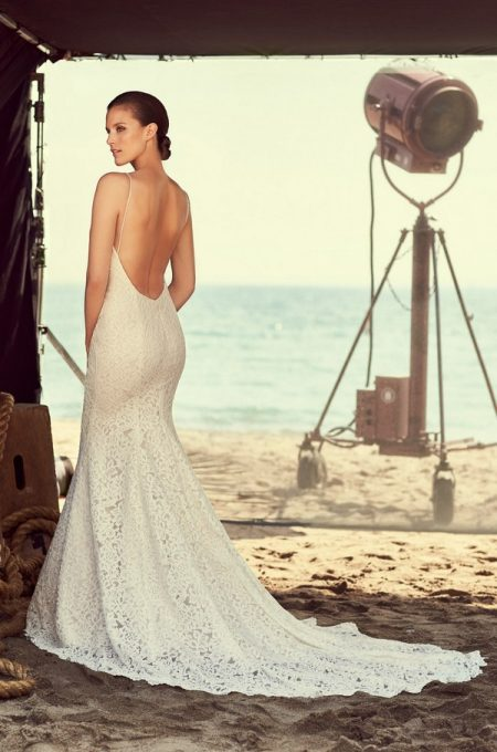 Back of 2186 Wedding Dress from the Mikaella Spring 2018