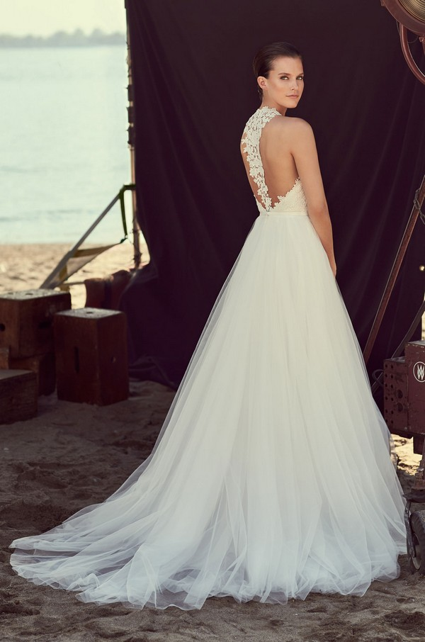 Back of 2187 Wedding Dress from the Mikaella Spring 2018