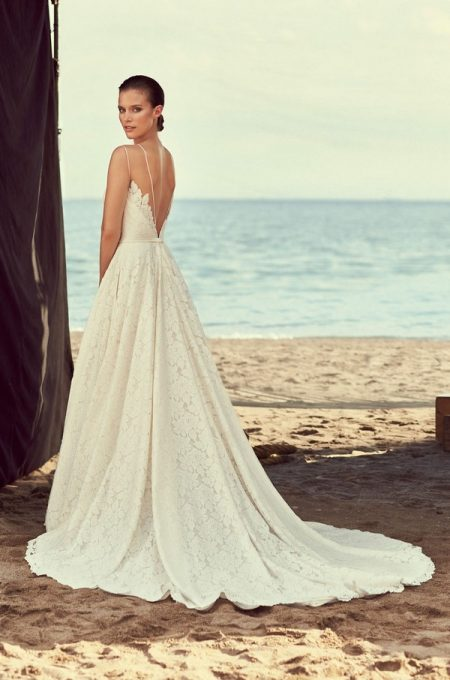 Back of 2188 Wedding Dress from the Mikaella Spring 2018