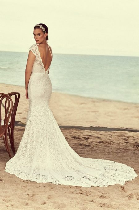 Back of 2189 Wedding Dress from the Mikaella Spring 2018