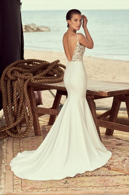 Back of 2190 Wedding Dress from the Mikaella Spring 2018