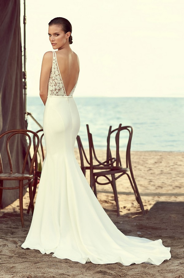 Back of 2195 Wedding Dress from the Mikaella Spring 2018