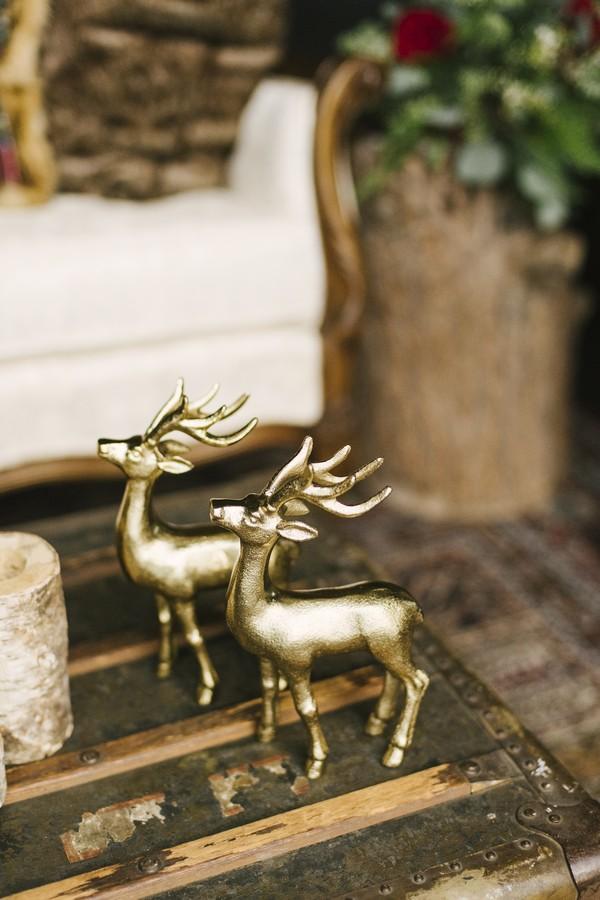 Gold deer ornaments