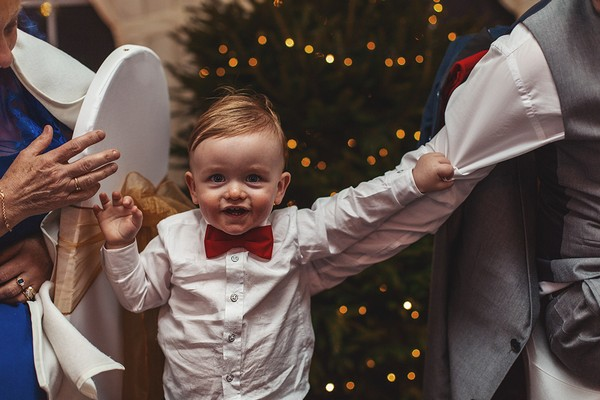 Pageboy with red bow tie