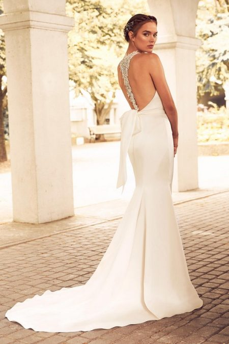 Back of 4780 Wedding Dress from the Paloma Blanca Spring 2018 Bridal Collection